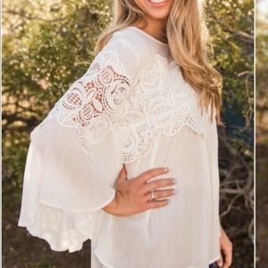 Tops - Boho chic lace, blouse, top